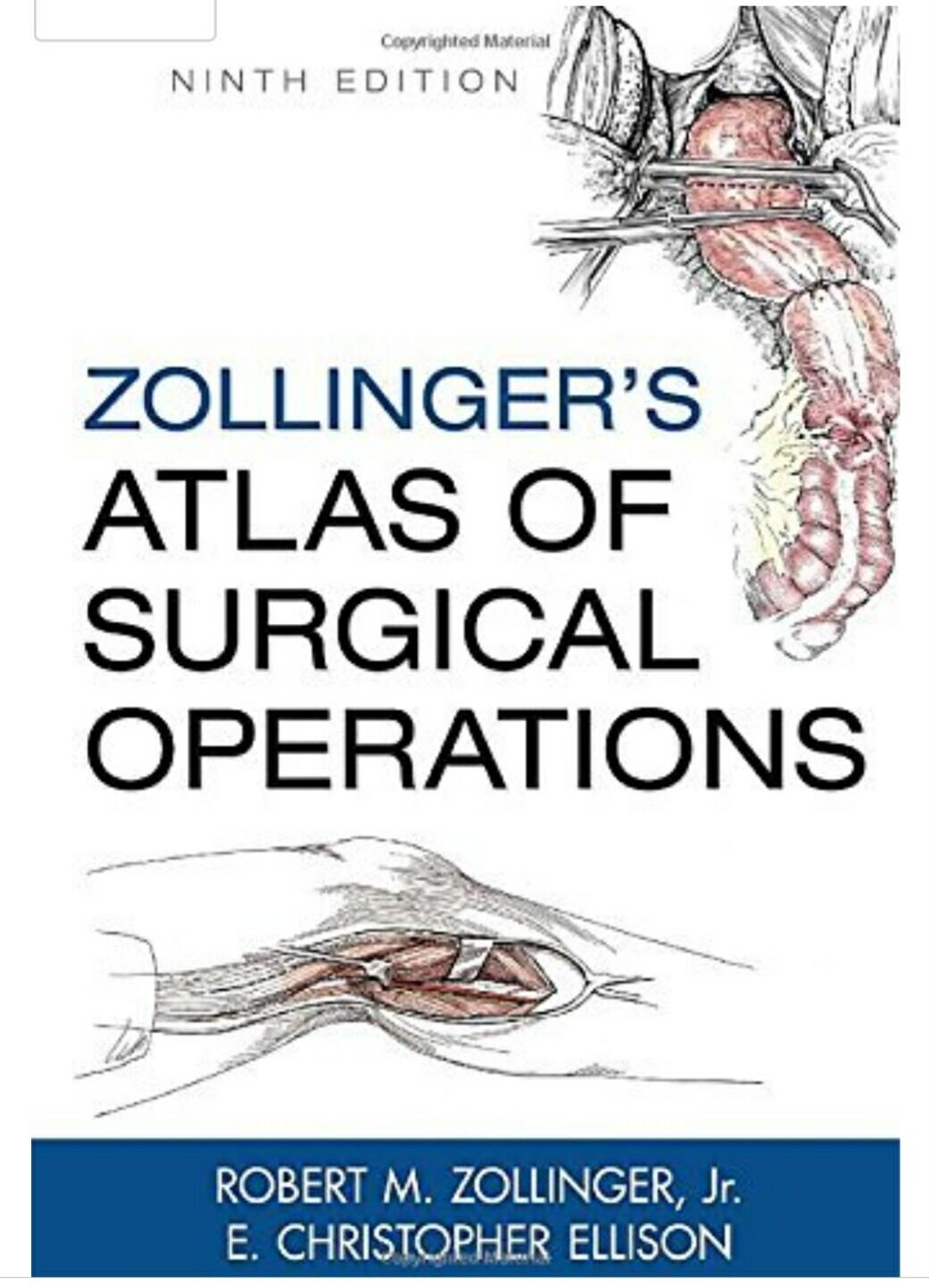 Robert Zollinger Jr Zollinger S Atlas Of Surgical Operations 9th